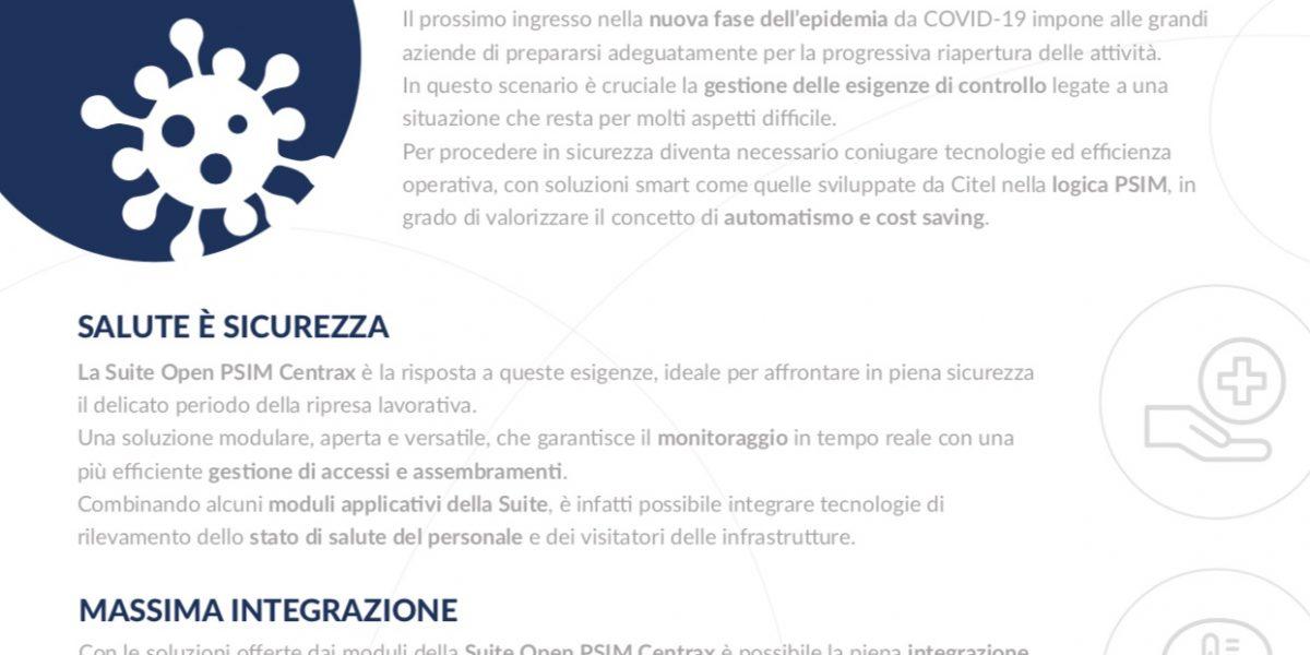 COVID-19: La soluzione Open PSIM di Citel